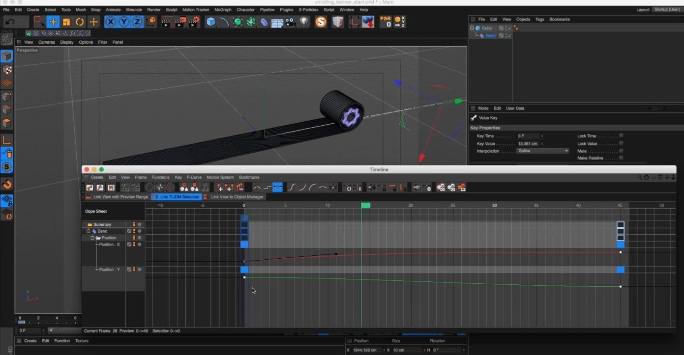 Create a Rolling Banner in Cinema 4D
