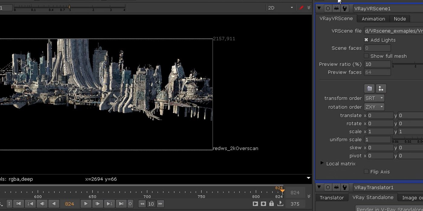 V-Ray For NUKE: Creating a SciFi City
