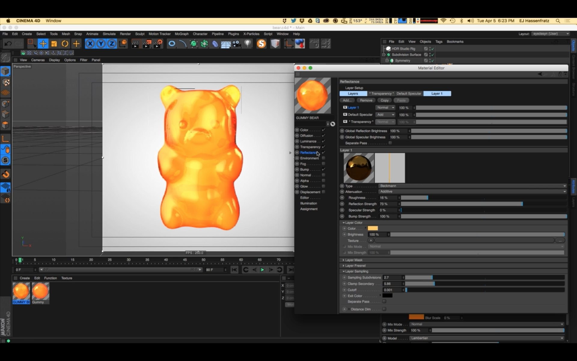 How to Create a Gel Texture in Cinema 4D