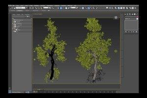 Populate Tree Leaves using Particle Flow