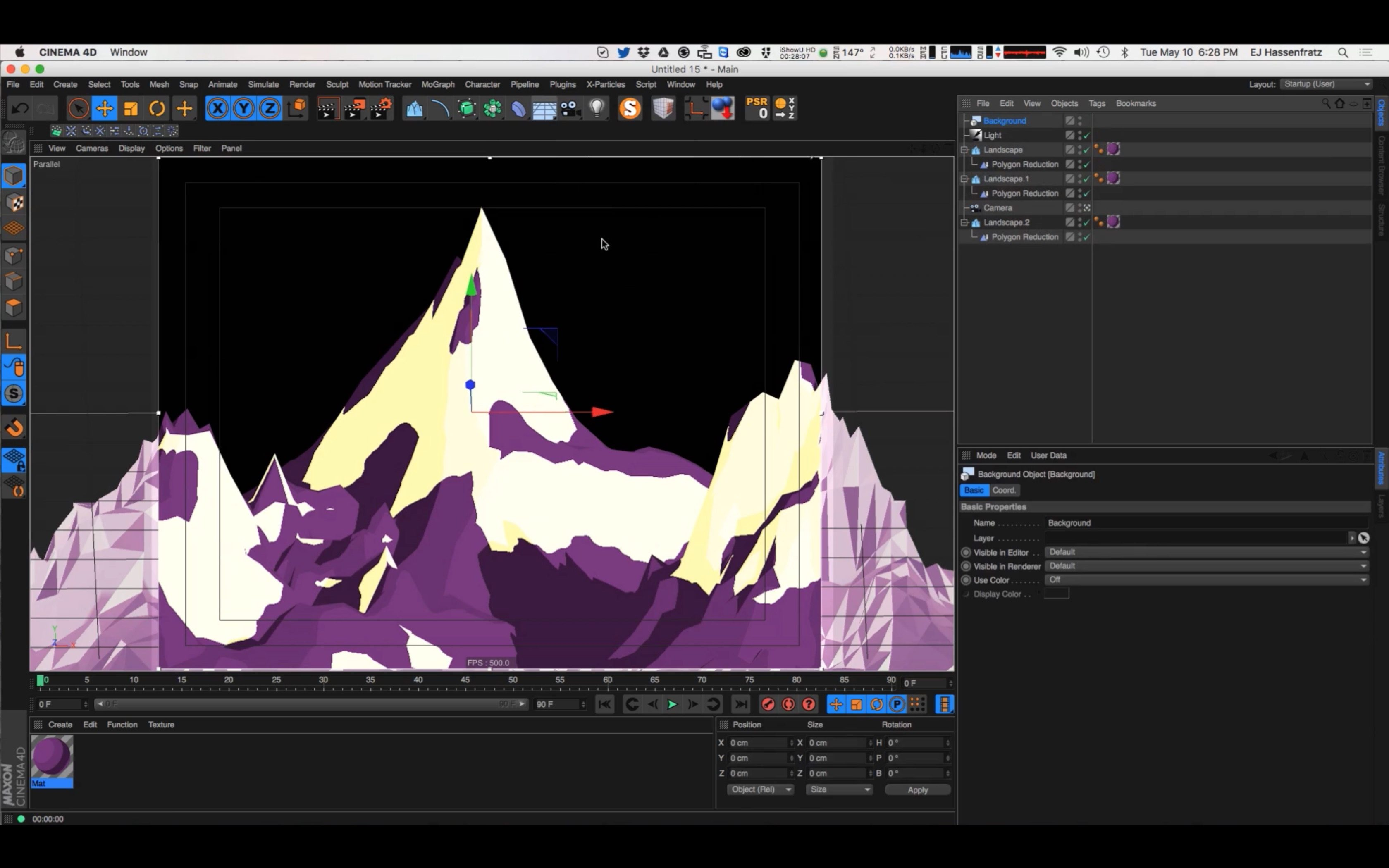 How to Create Cartoon Mountains in Cinema 4D