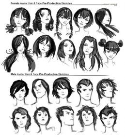 Character Design Collection Hair