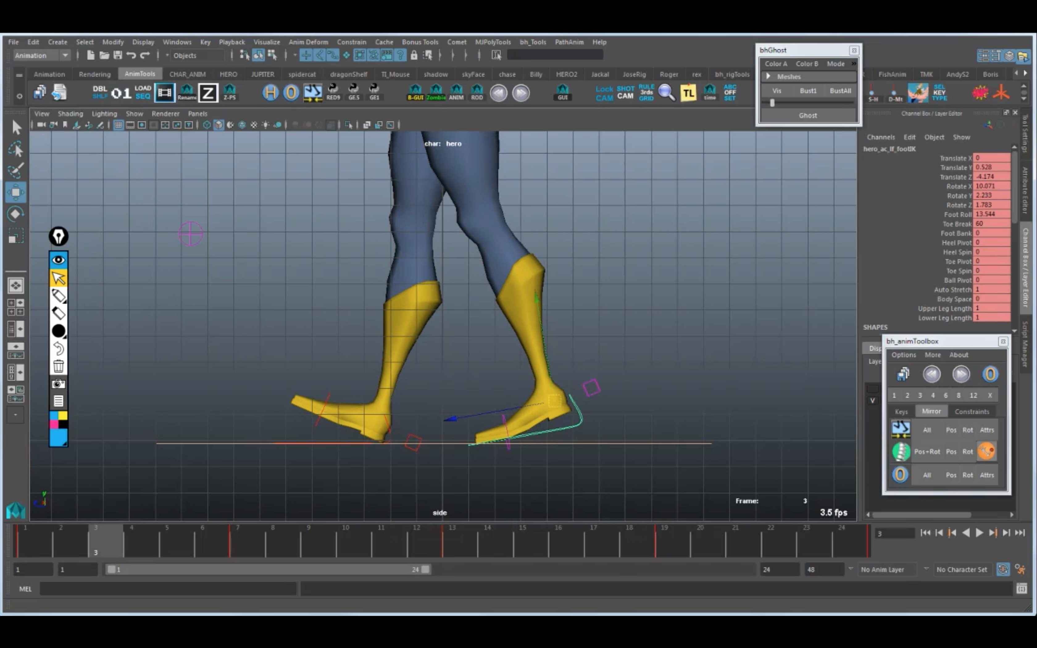 A common mistake when animating Walk Cycles