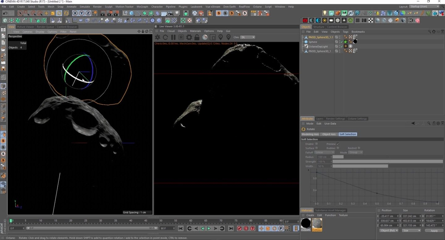 Creating an Asteroid in Zbrush and Octane for Cinema 4D