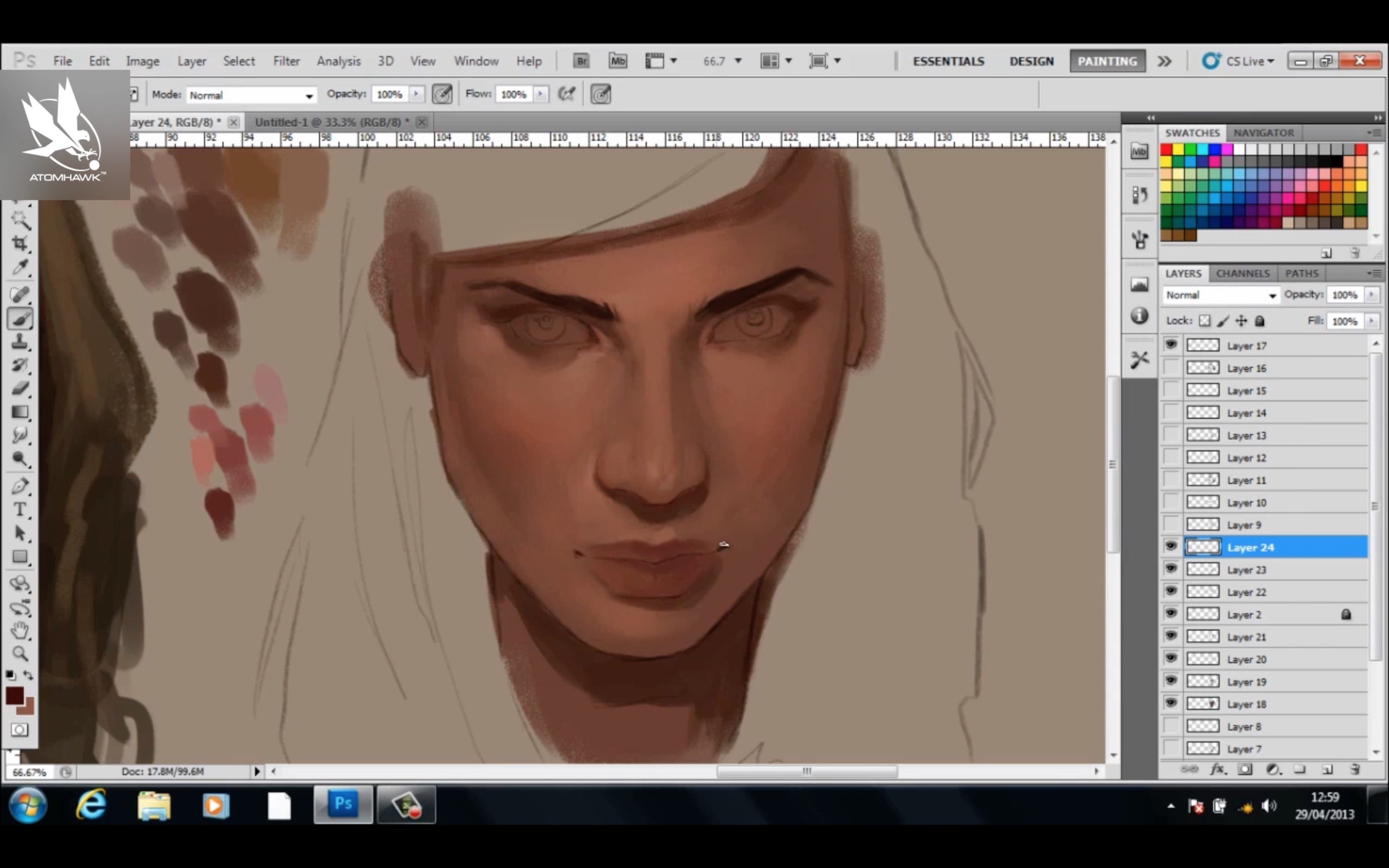 Painting Skin Tutorial by Charlie Bowater