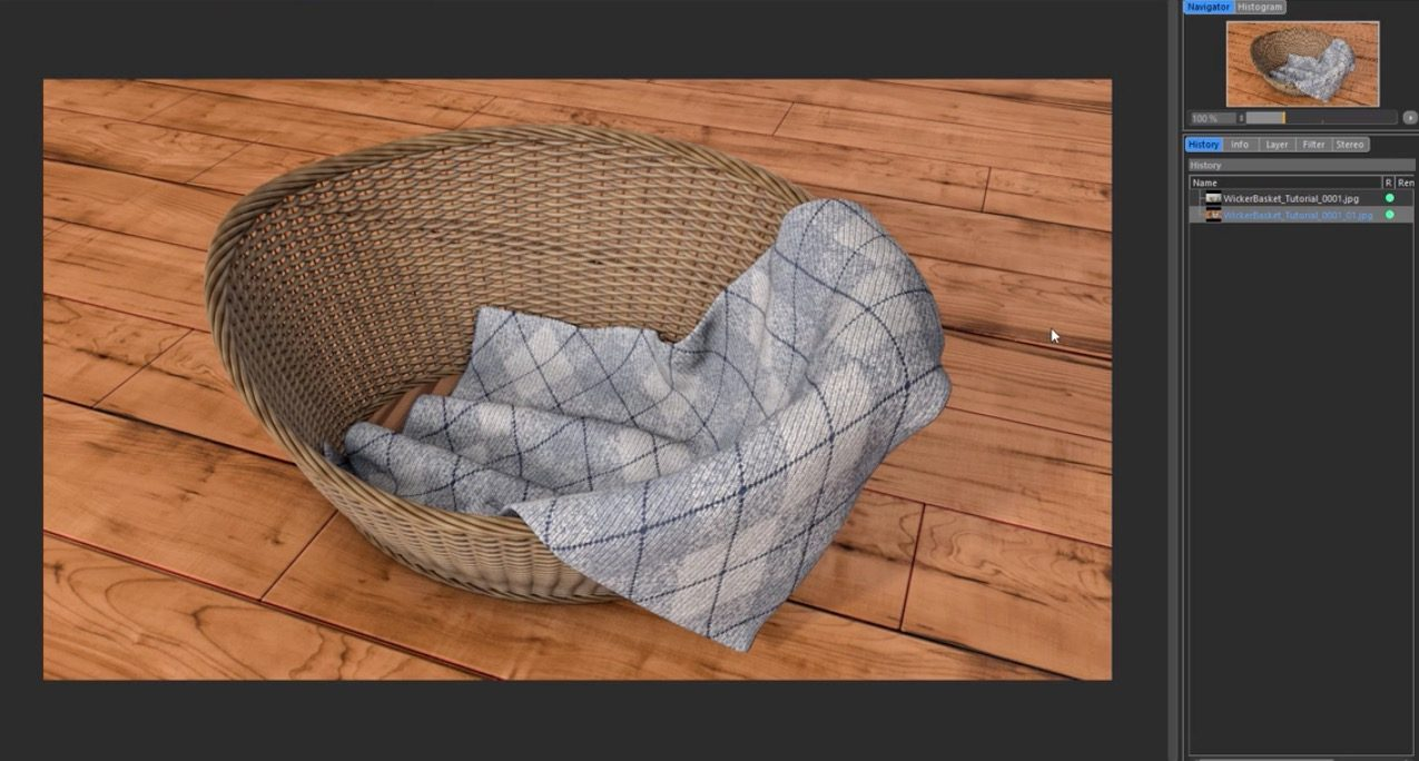 How To Model A Wicker Basket And A Blanket In Cinema 4d