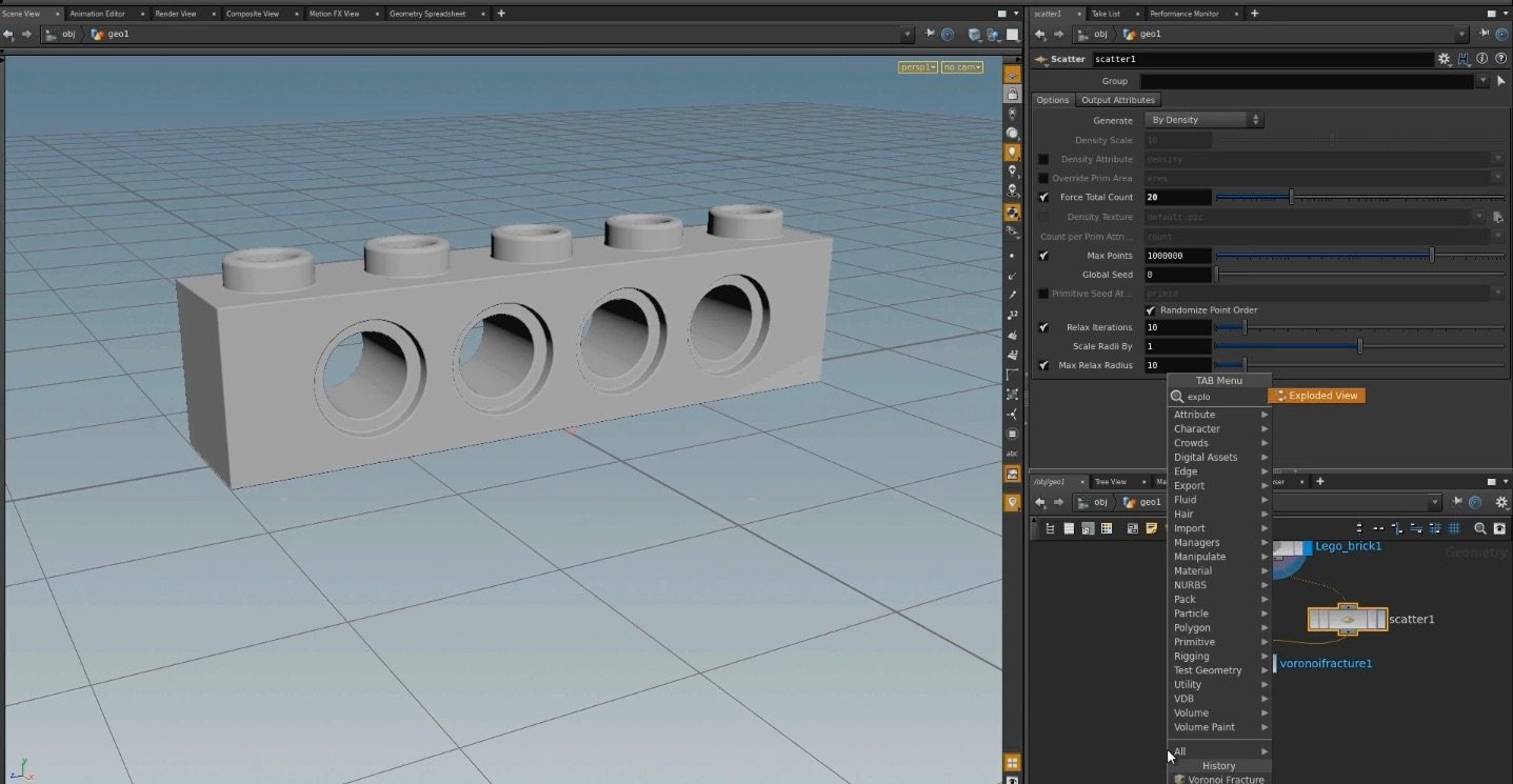 Object to Lego in Houdini
