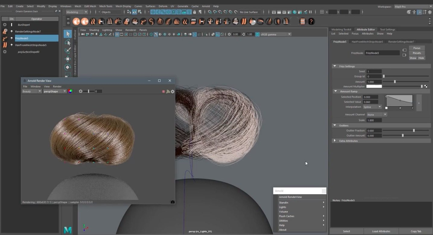 Creating Braids and Buns in Maya