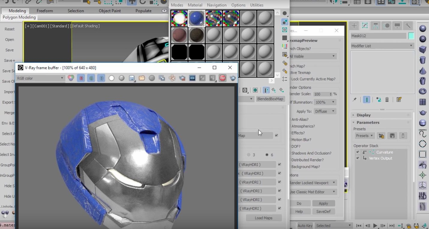 Texturing A Robotic Mask