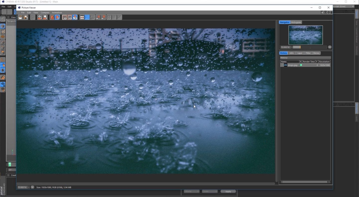 Create a Rain Scene With Cinema 4D