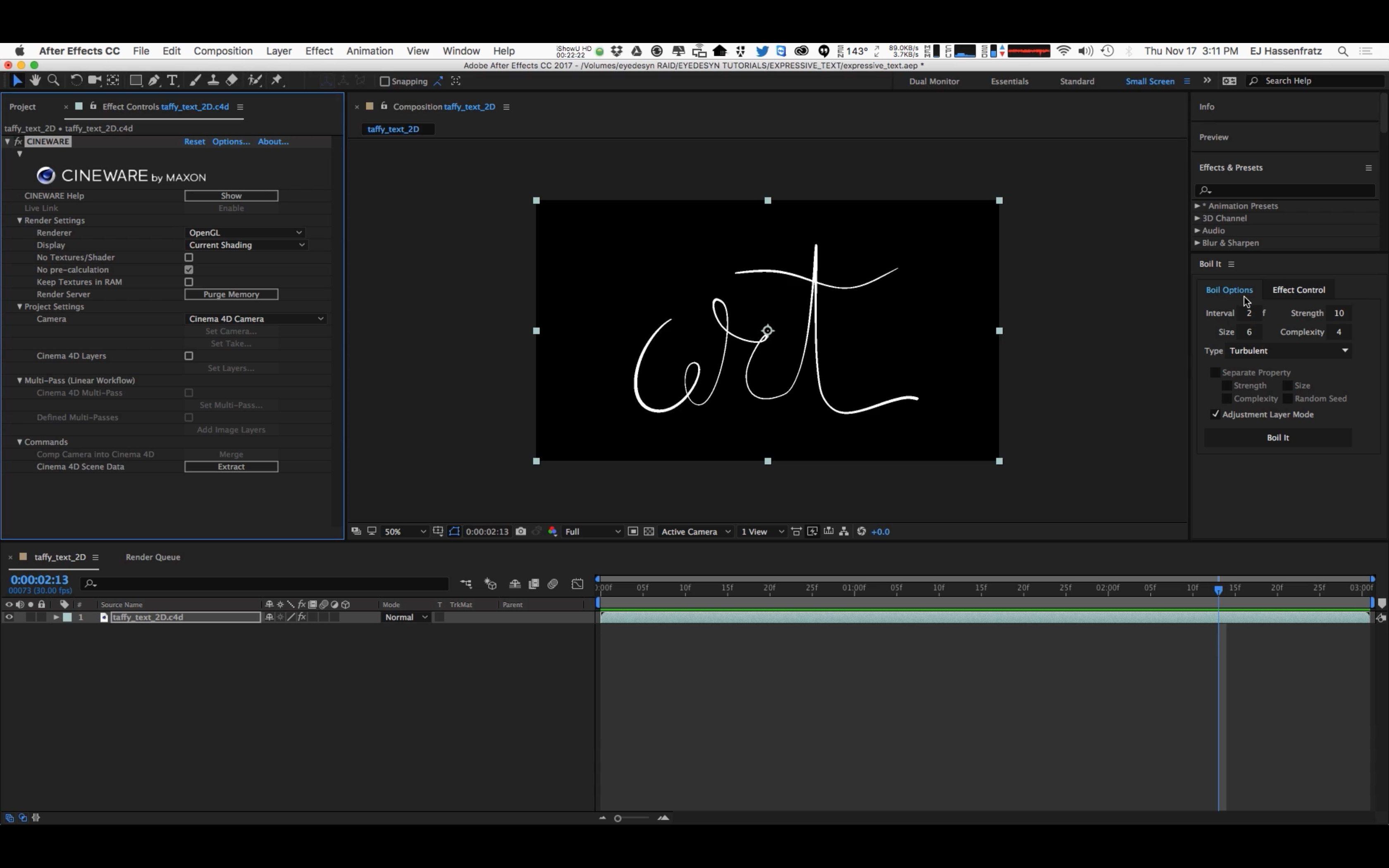 Create a Bouncy Logo Animation in Cinema 4D