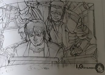 Original Sketches And Backgrounds From Ghost In The Shell Animated Movie