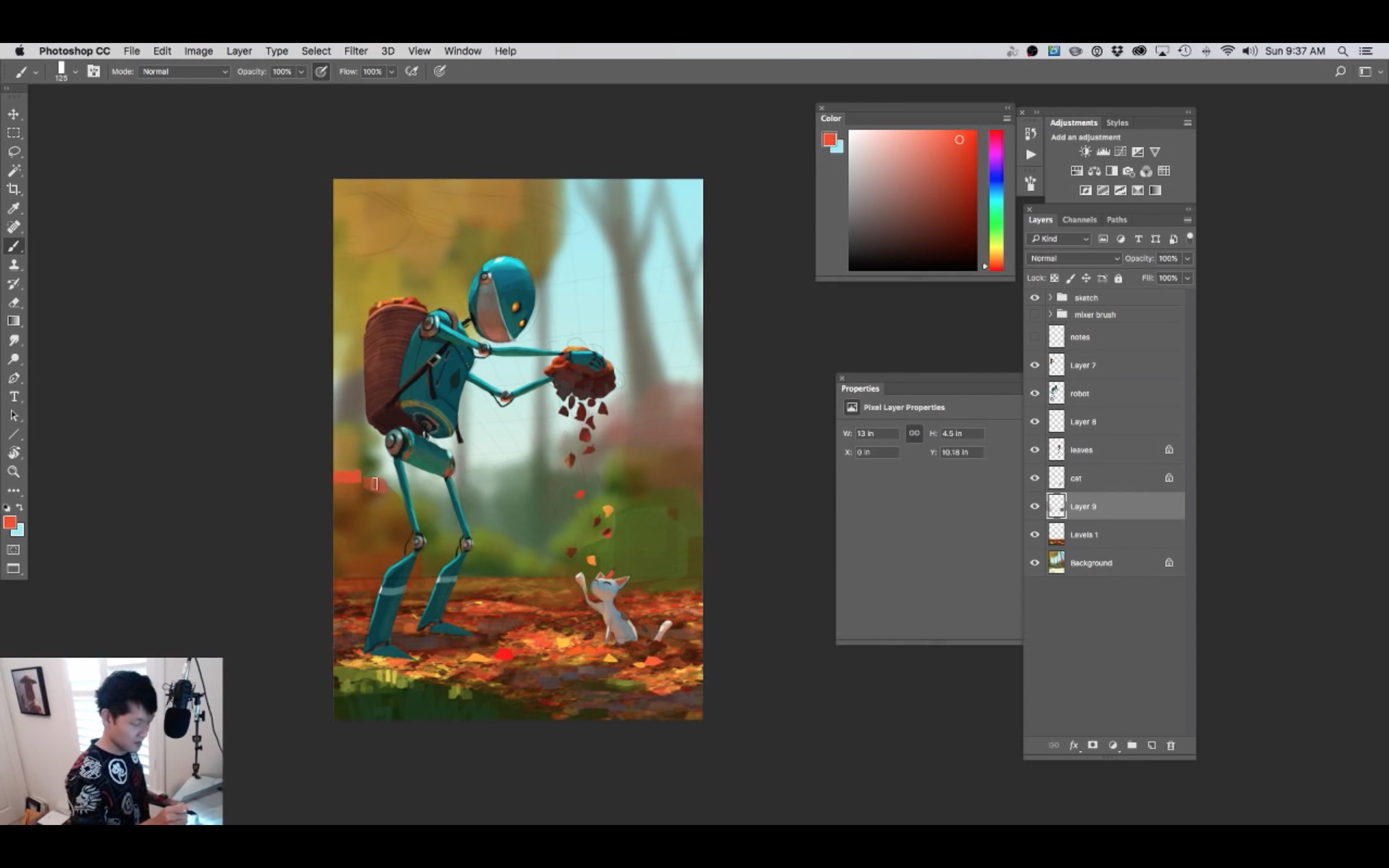 Making Of Autumn by Goro Fujita