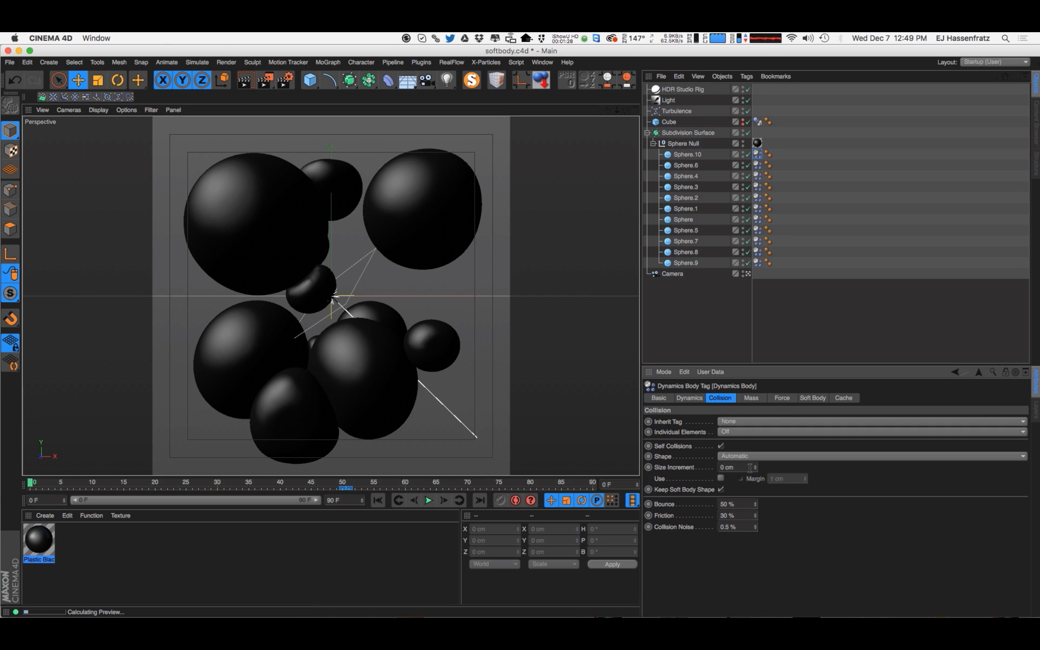 Intro to Soft Body Dynamics in Cinema 4D