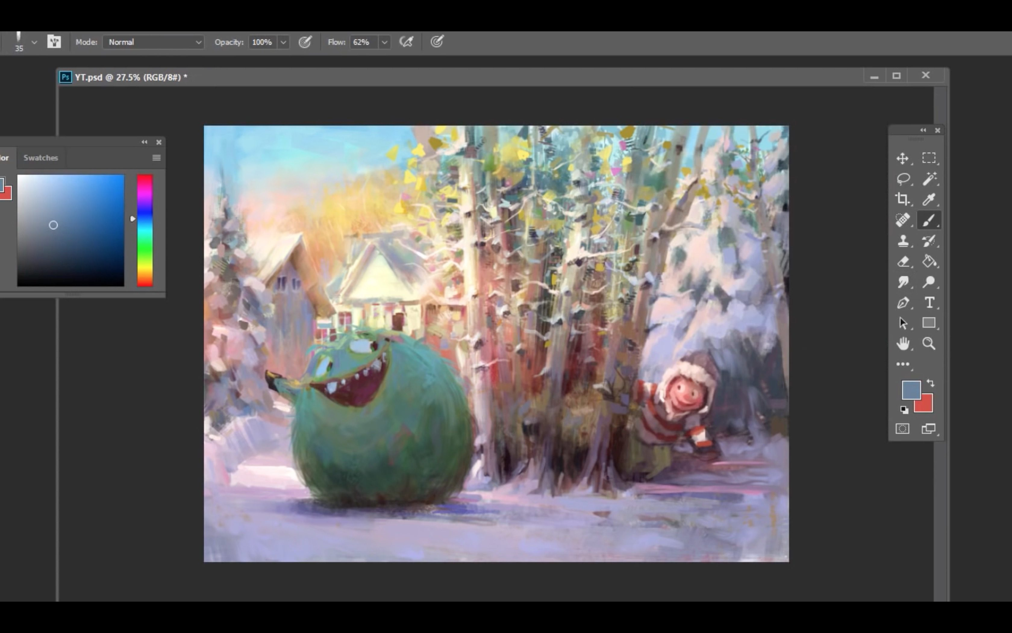 Making of Snowball Fight by Marco Bucci