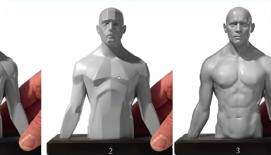 Sculpting a human figure