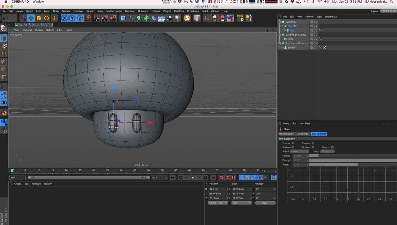 Intro to Subdivision Surface Modeling in Cinema 4D