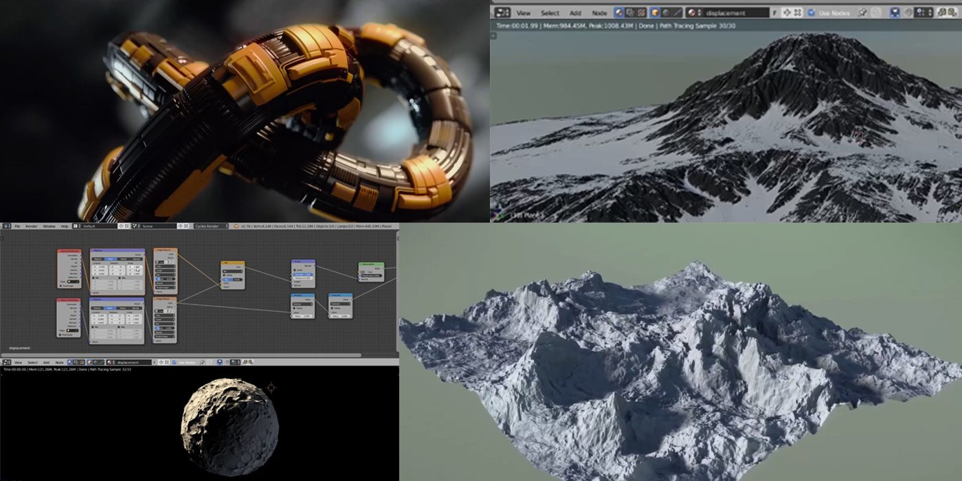 Blender Tutorial: Micropolygon Displacement Basics