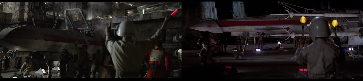 Rogue One and Star Wars Shots Comparison