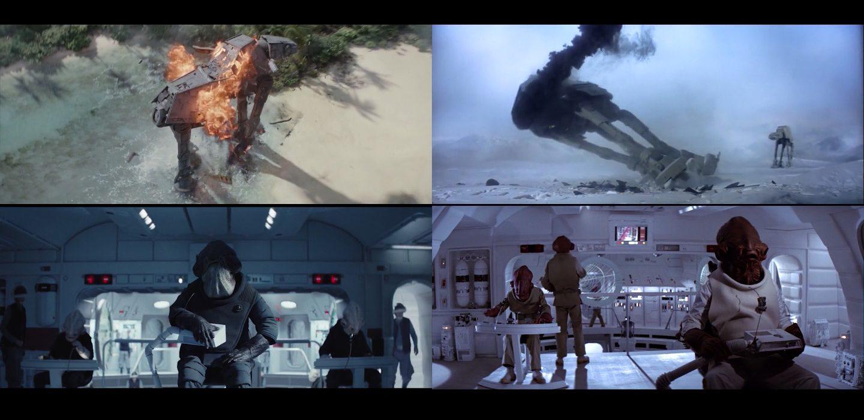 Rogue One Star Wars The Original Trilogy Shot Comparison