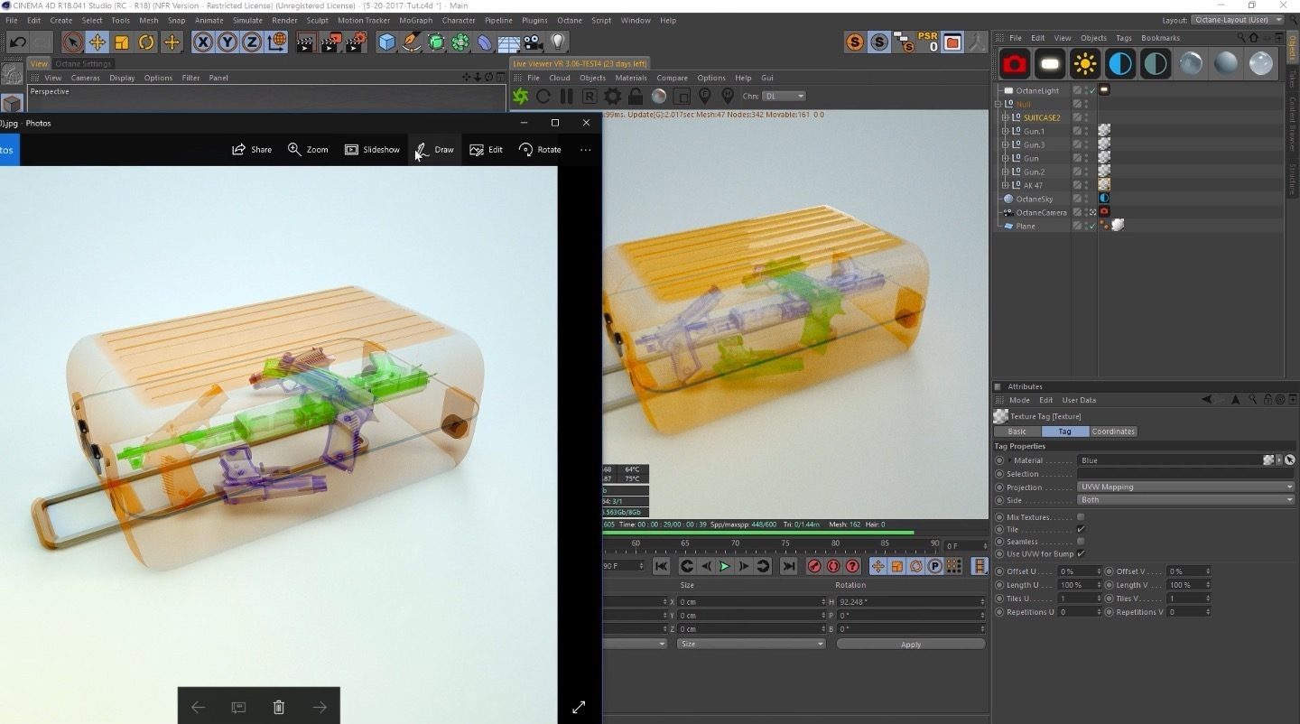 How to make an X-Ray Machine Look In Octane Render