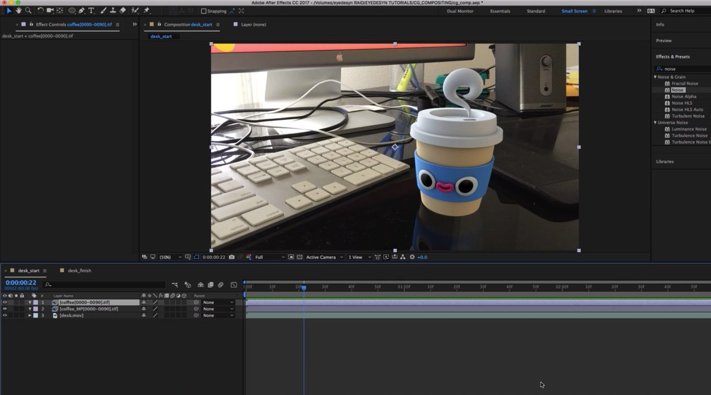Tracking in C4D with After Effects