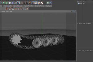 Animating the treads of a tank
