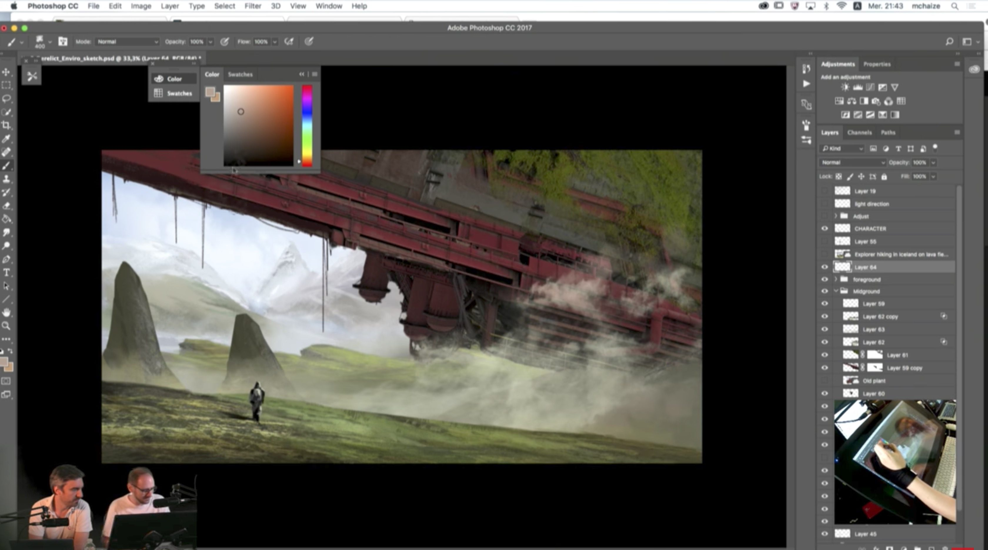 Tutorial: Live Compositing in Photoshop with Sebastien Hue