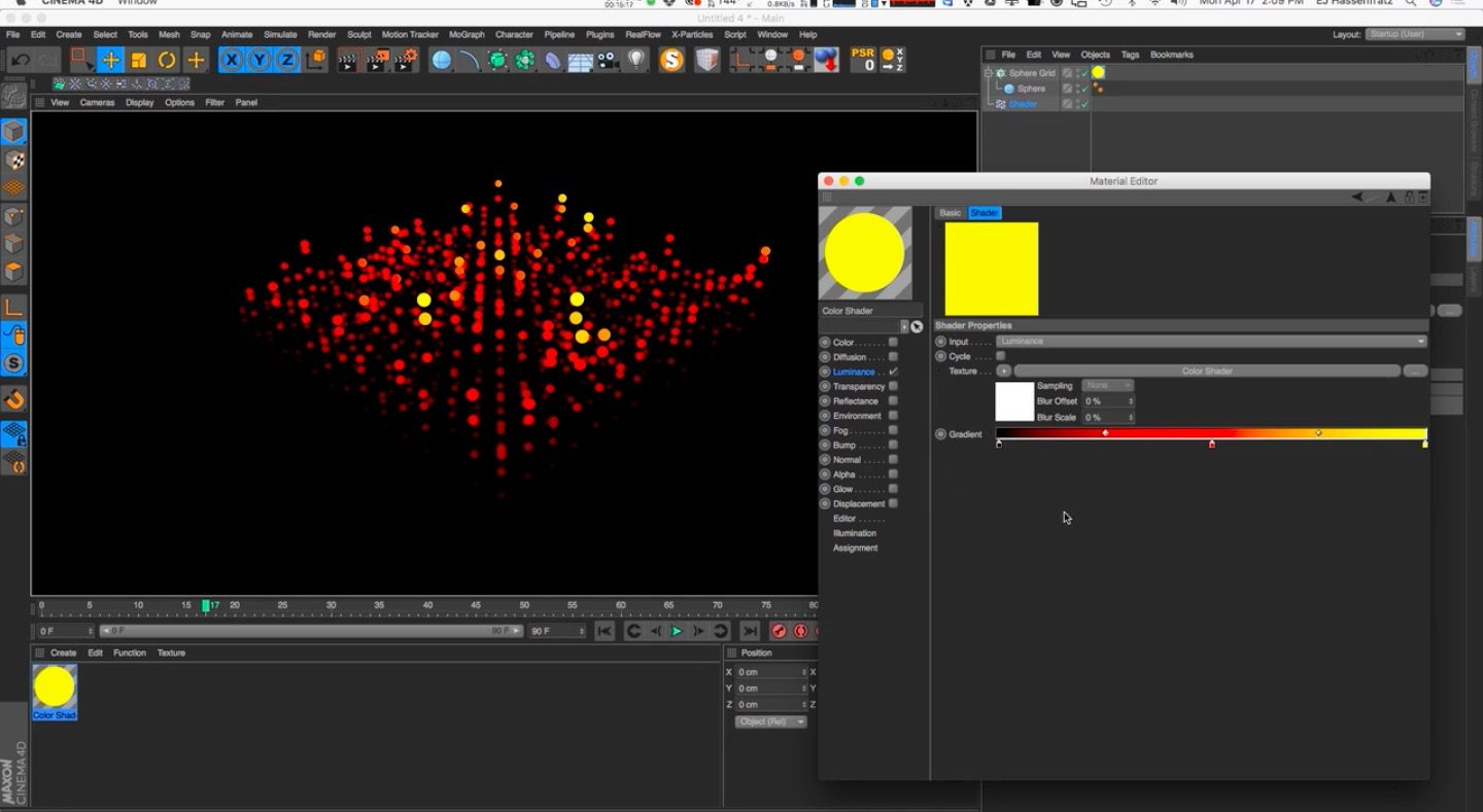 Mograph Shader Effector