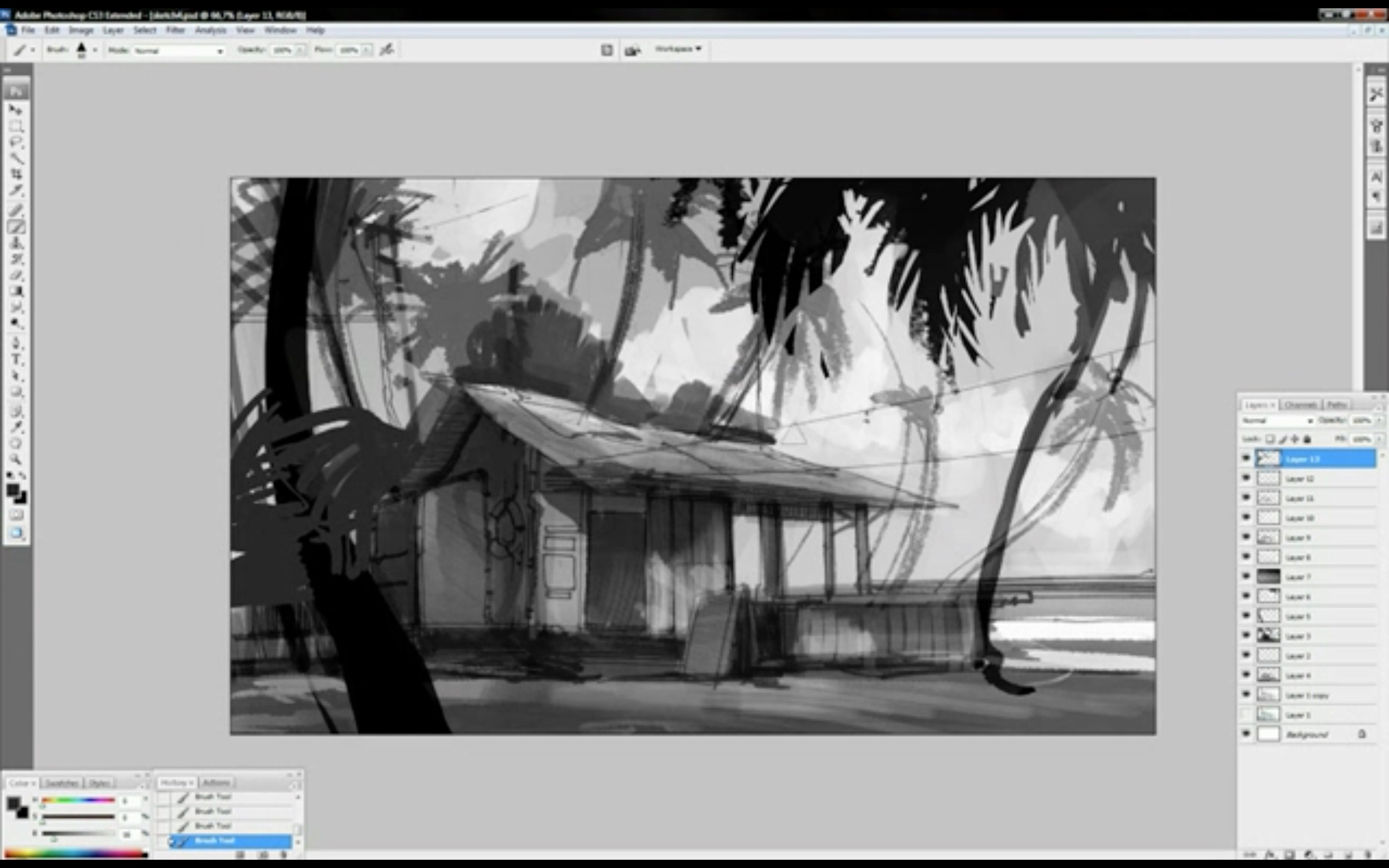 Making of Tuomas Korpi's Painting: Coco's Paradise Inn