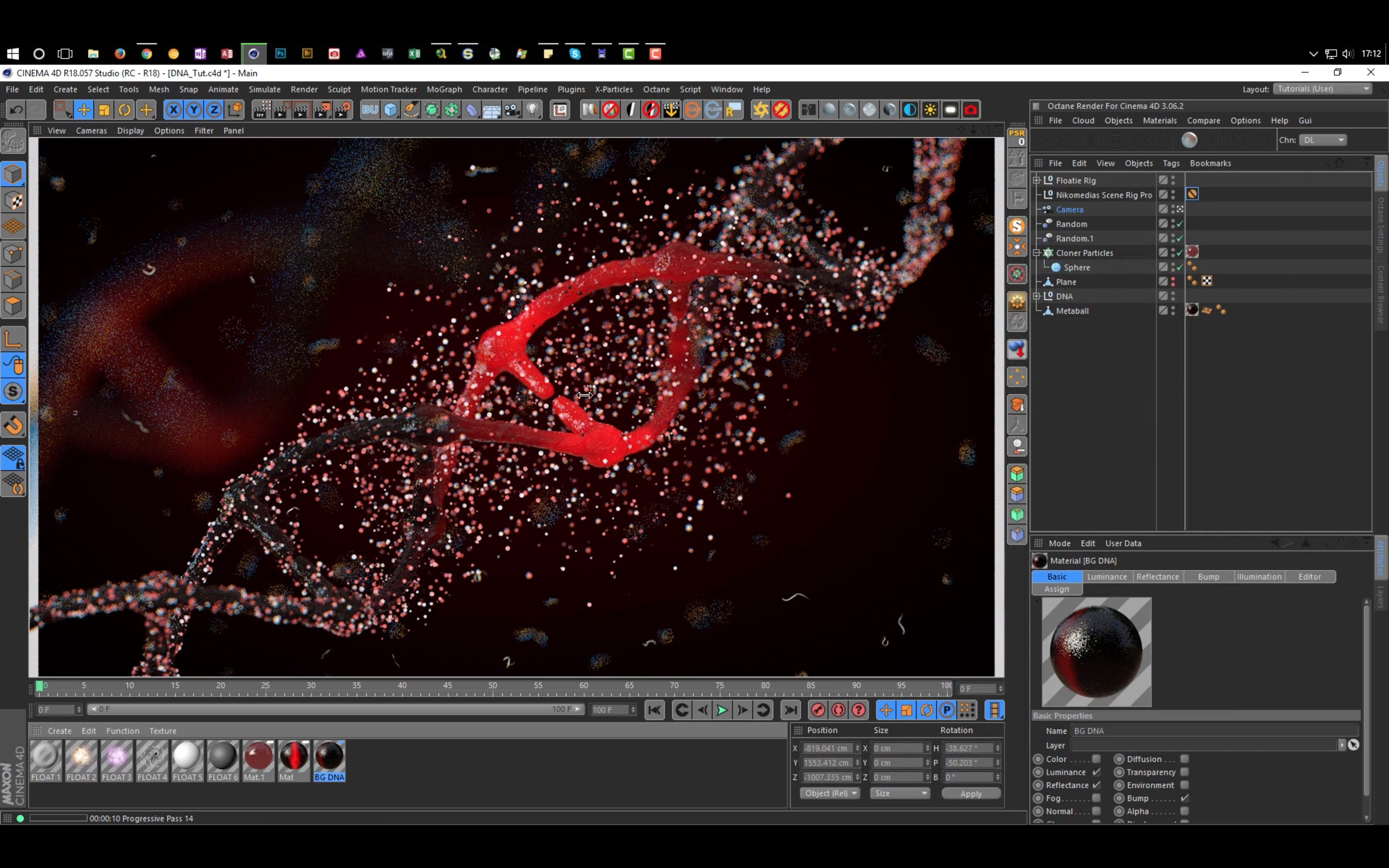 Tutorial: Creating a DNA Strand in Cinema 4D