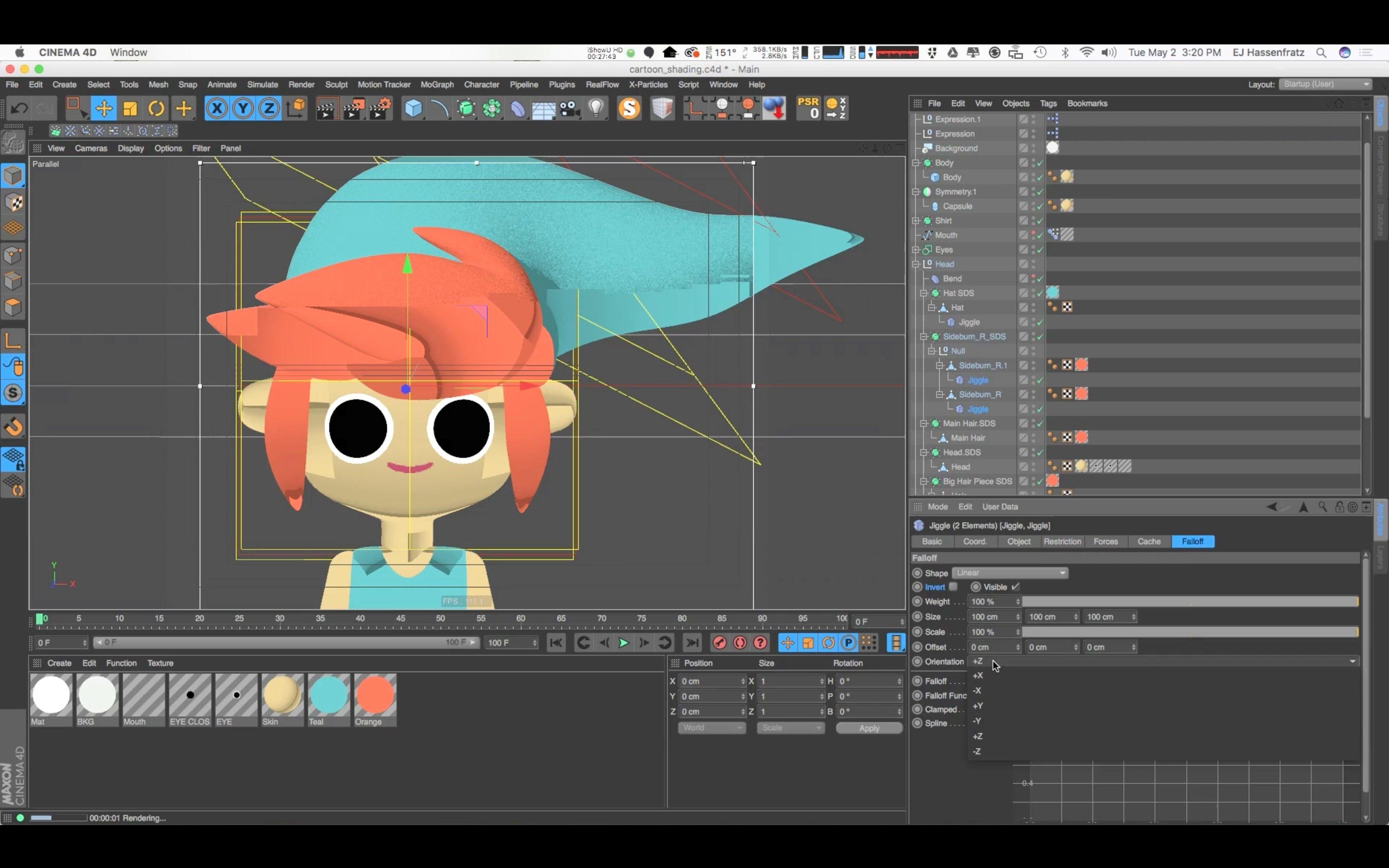 Tutorial: Creating a Cartoon Render Using the Cel Shader in Cinema 4d