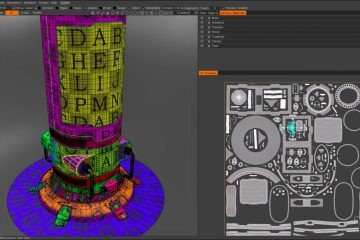 Preparing a model in Cinema 4D and Unwrapping in 3D Coat