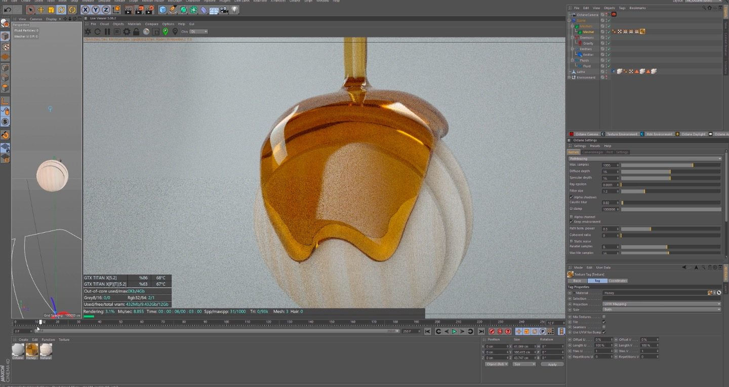 Smooth Surface in Realflow with Cinema 4D