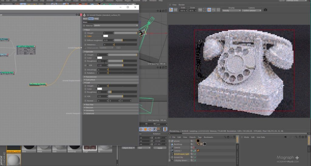 Creating a realistic Vintage Rotary Telephone Shader