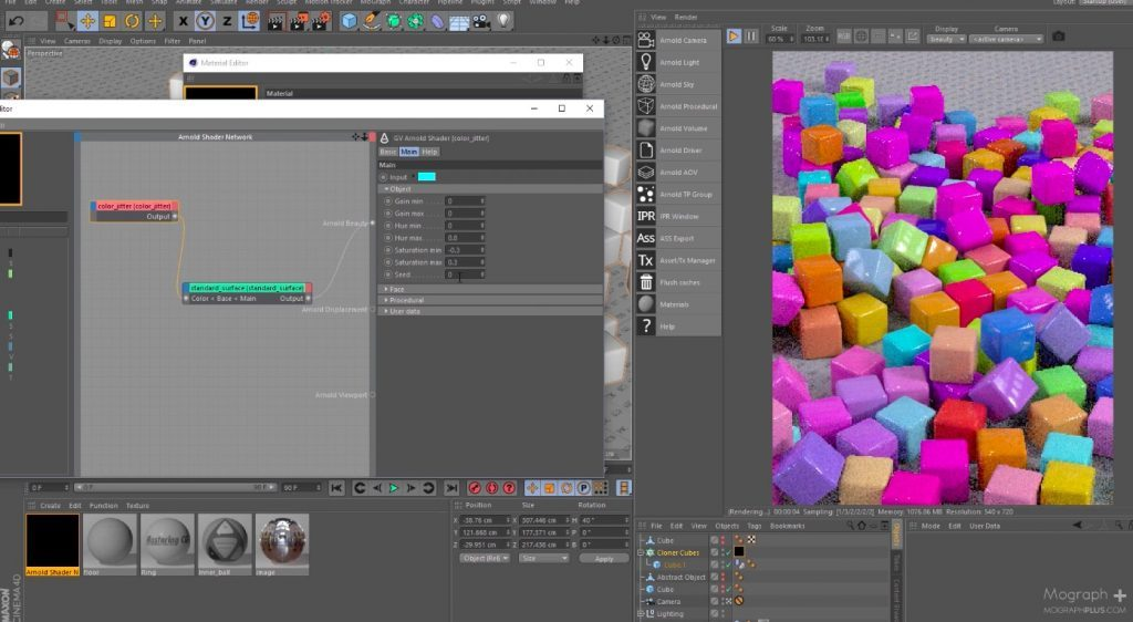 Add Random Colors to objects in Arnold for C4D