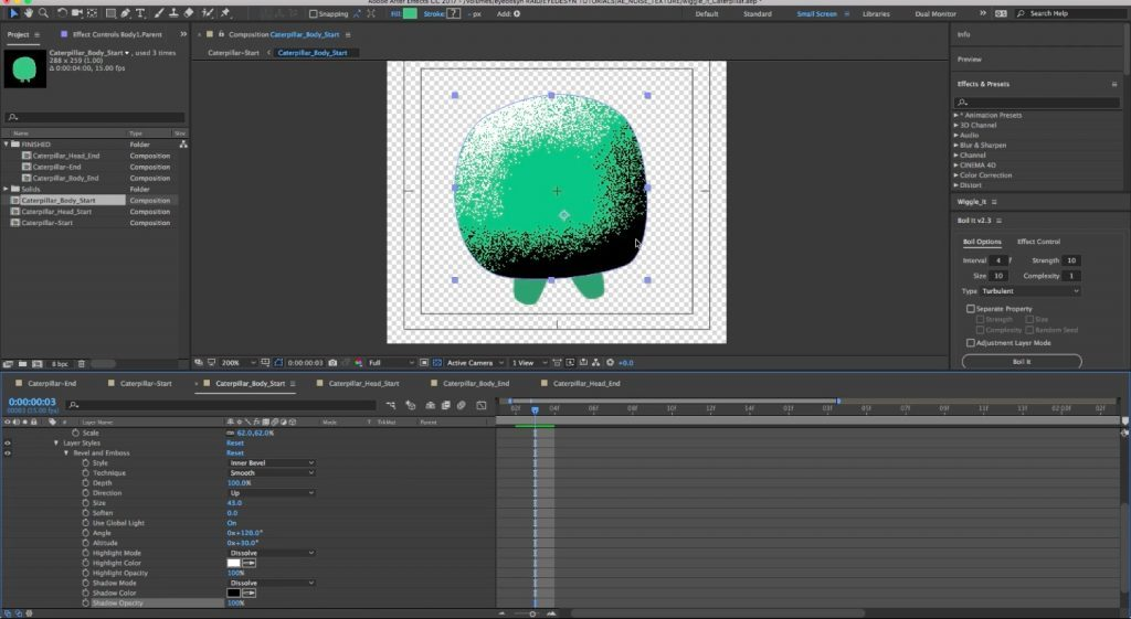 Applying Noise Textures to Objects