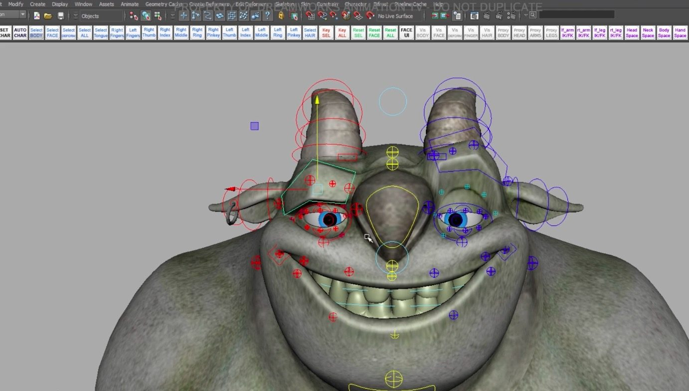 Dreamworks Trollhunters Characters Rig Template