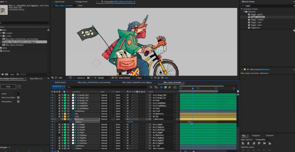Animating a Bicycle in After Effects