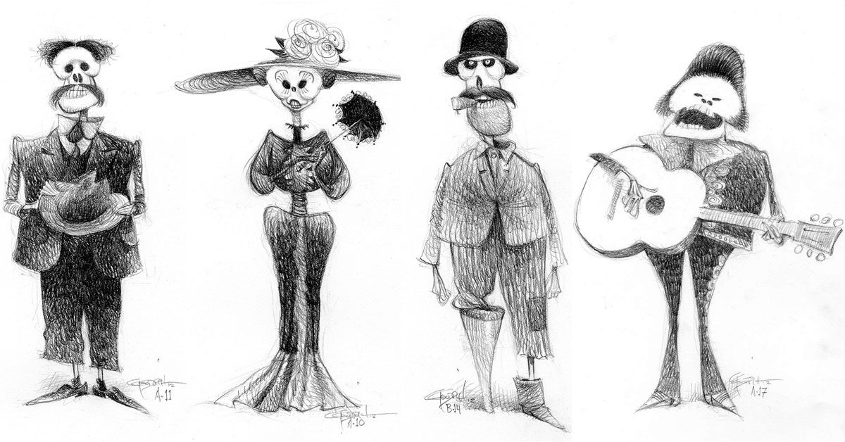 Character Design Classes In Nyc : Coco character designs by carter goodrich
