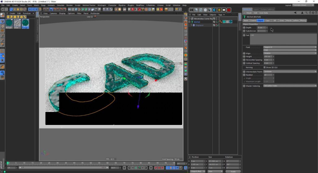 Create an Animated Water-Text in Cinema 4D