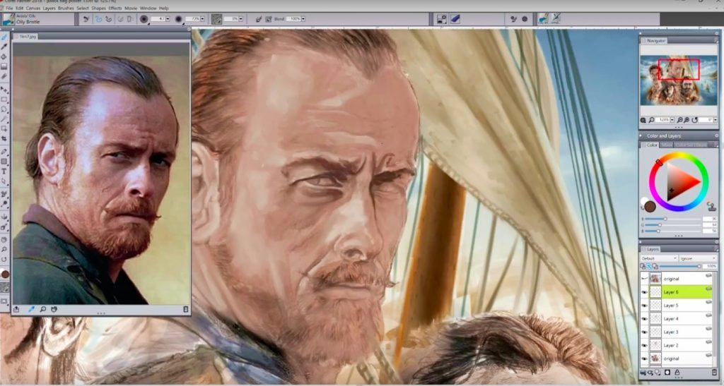 Making of Black Sails Fan Art Poster by Isis Sousa