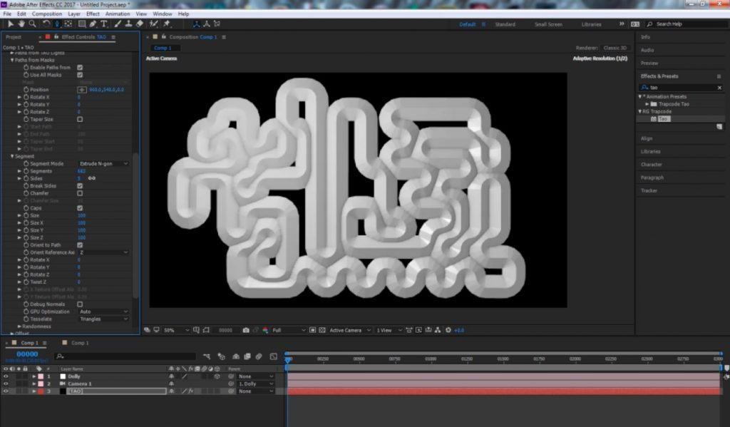 Plumbing network with Trapcode Tao in After Effects