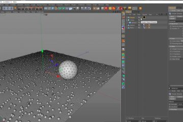 Particle on Collision with Cinema 4D