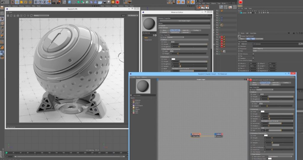 Material Basics in Redshift Renderer for Cinema 4D