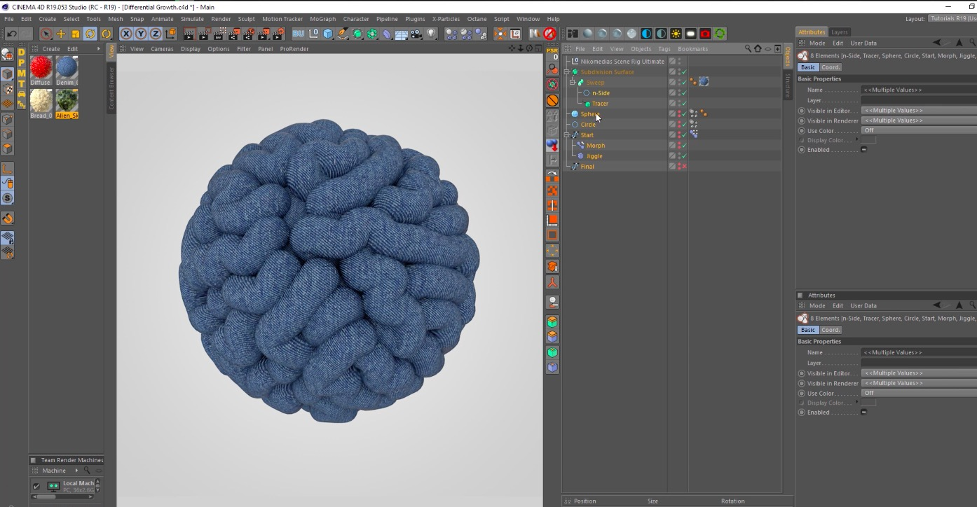 Differential Growth Animation