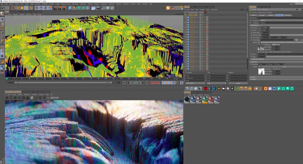 Abstract Topographic Render
