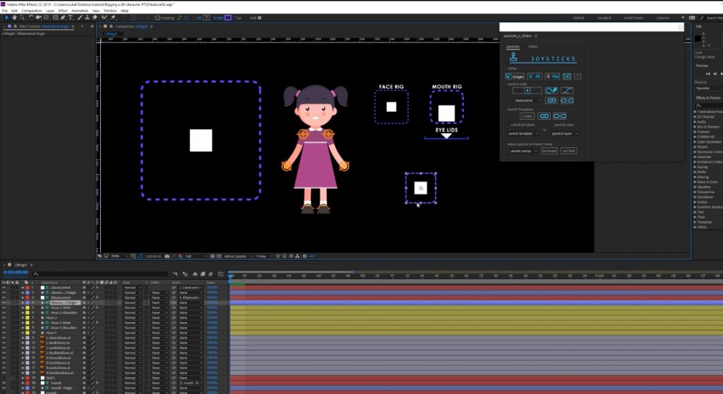 How to rig a 2D character in After effects