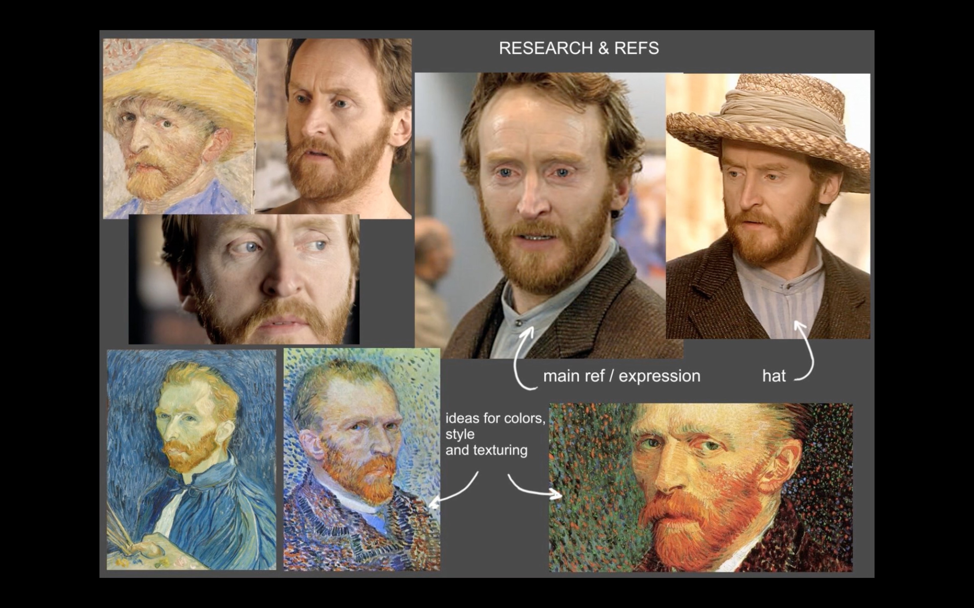 Making of Doctor Who Van Gogh by Isis Sousa