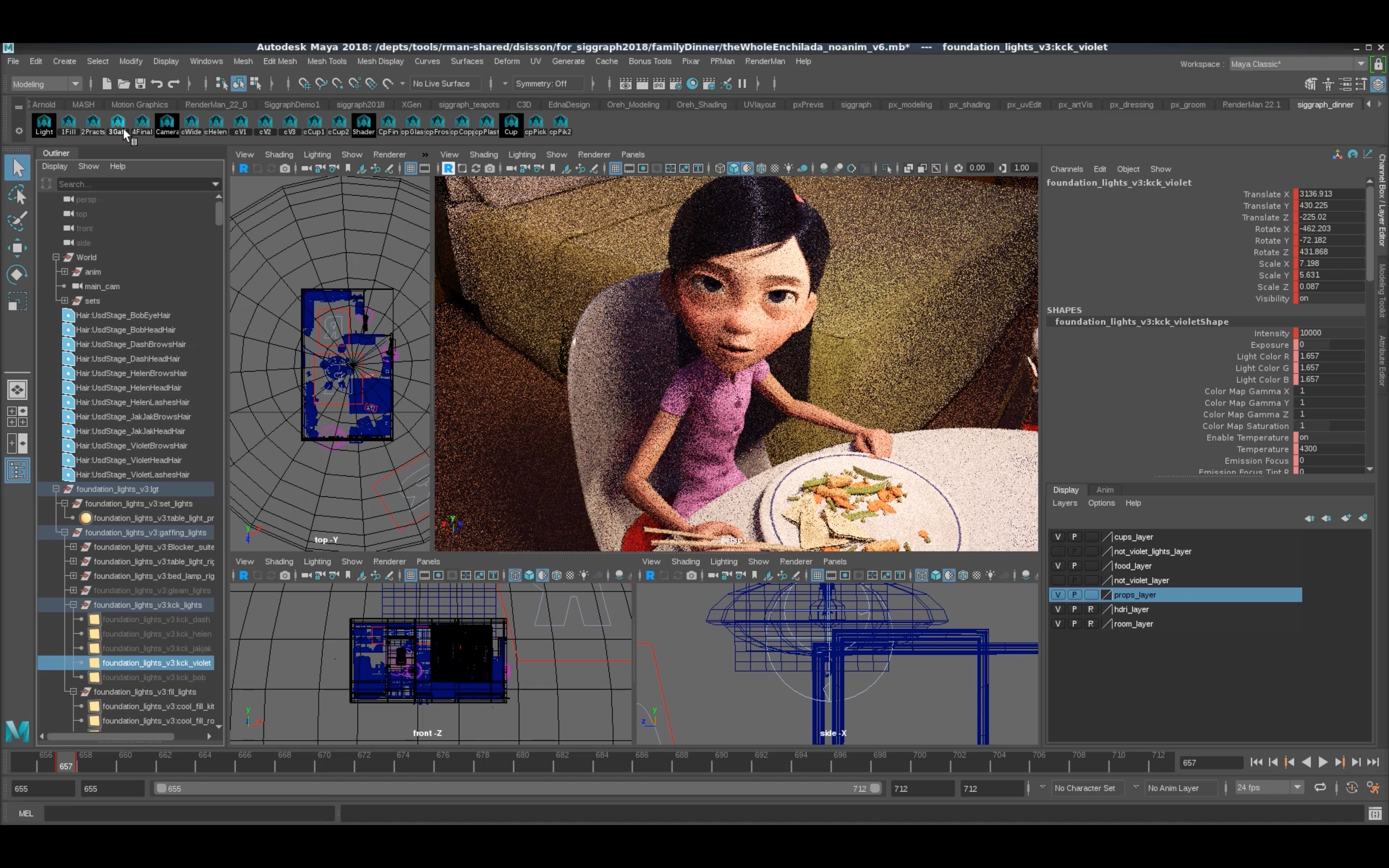 Creating Incredibles 2 with RenderMan